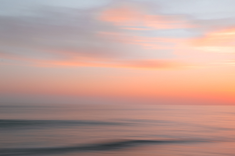 pink sunset blurred out